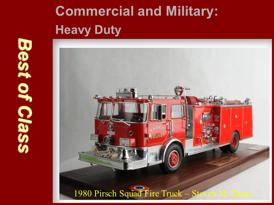Best of Class Commercial and Military: Heavy Duty