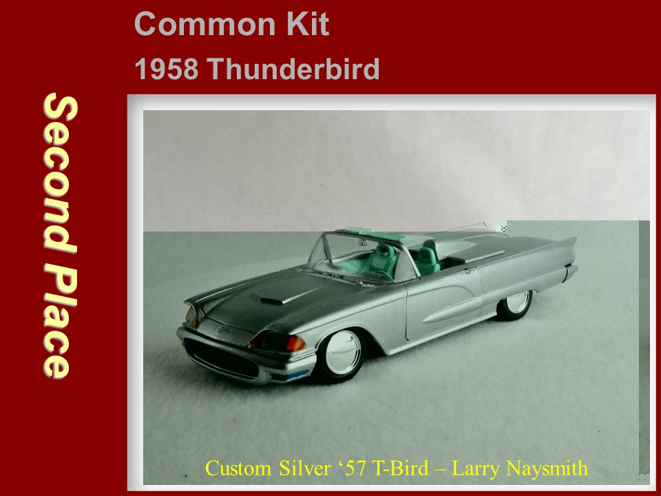 Second Place Common Kit 1958 Thunderbird