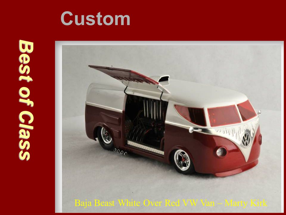 Custom Best of Class Baja Beast White Over Red VW Van – Marty Kirk
