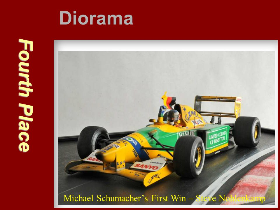 Diorama Fourth Place Michael Schumacher's First Win – Steve Nohlenkamp