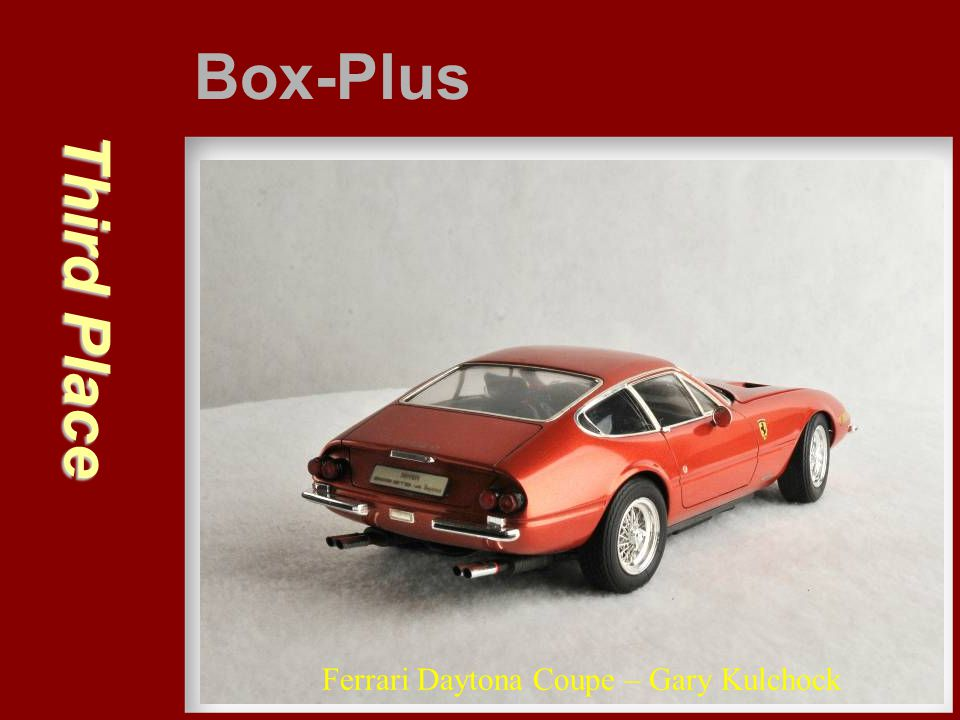 Box-Plus Third Place Ferrari Daytona Coupe – Gary Kulchock