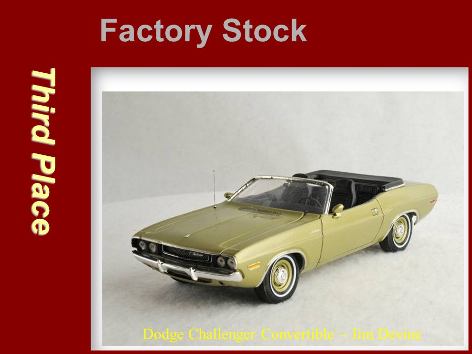 Factory Stock Third Place Dodge Challenger Convertible – Jim Devine