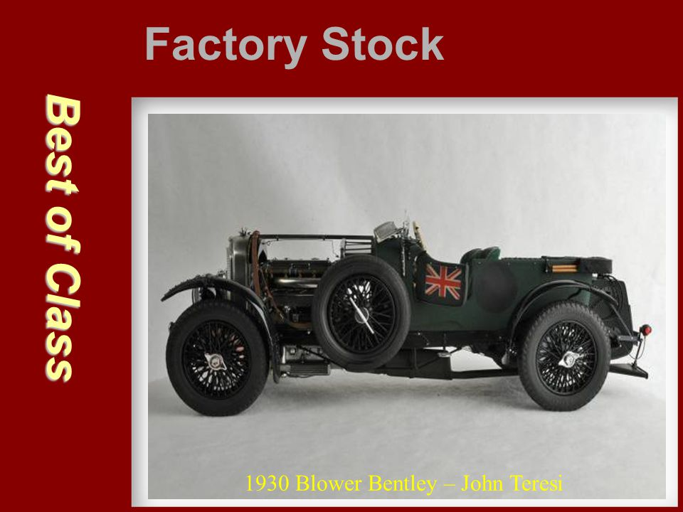 Factory Stock Best of Class 1930 Blower Bentley – John Teresi