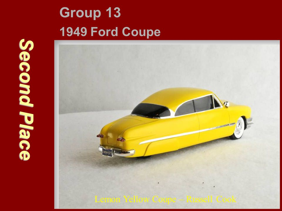 Second Place Group 13 1949 Ford Coupe