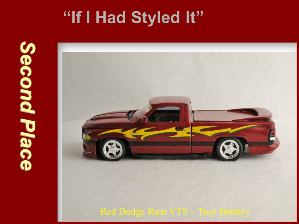 If I Had Styled It Second Place Red Dodge Ram VTS – Troy Bentley