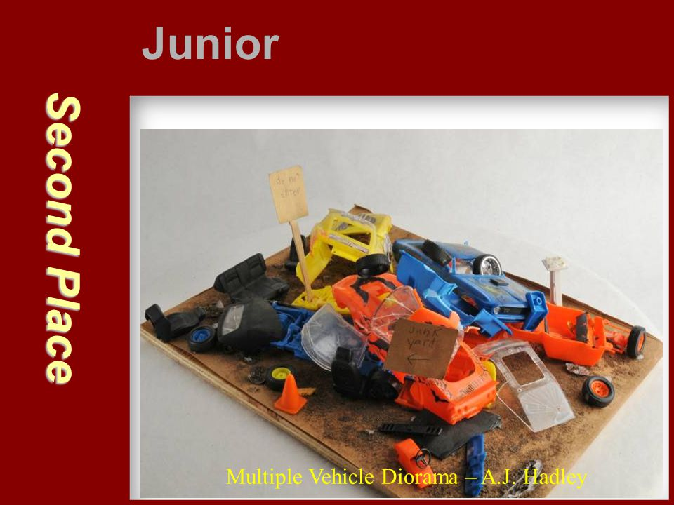 Junior Second Place Multiple Vehicle Diorama – A.J. Hadley