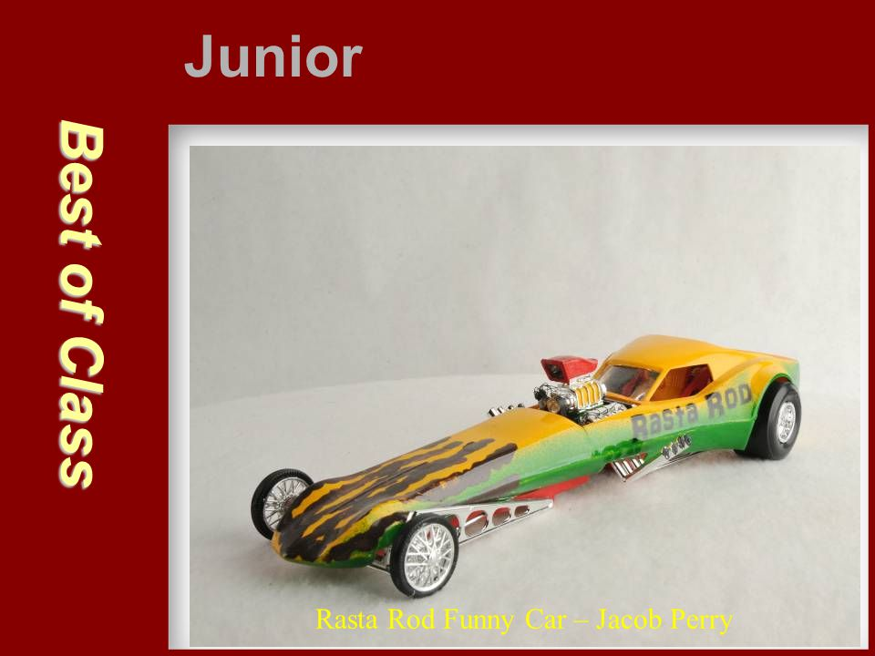 Junior Best of Class Rasta Rod Funny Car – Jacob Perry