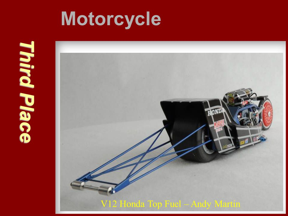 Motorcycle Third Place V12 Honda Top Fuel – Andy Martin