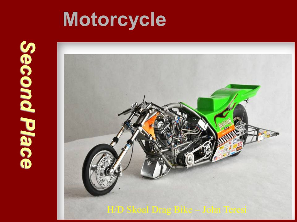 Motorcycle Second Place H/D Skoal Drag Bike – John Teresi