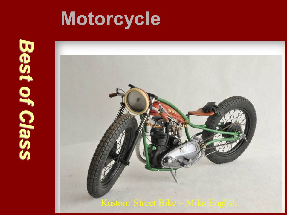 Motorcycle Best of Class Kustom Street Bike – Mike English