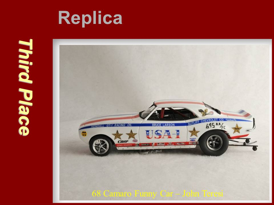 Replica Third Place 68 Camaro Funny Car – John Teresi