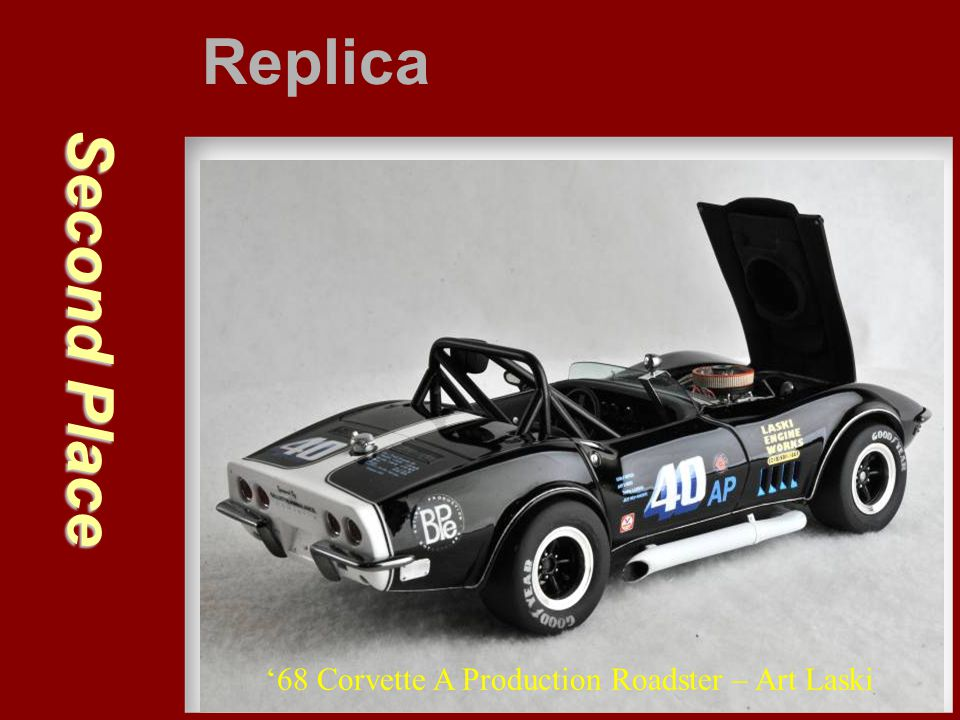 Replica Second Place '68 Corvette A Production Roadster – Art Laski