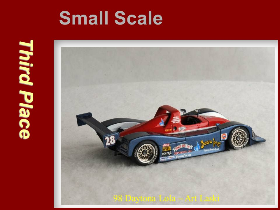 Small Scale Third Place 98 Daytona Lola – Art Laski