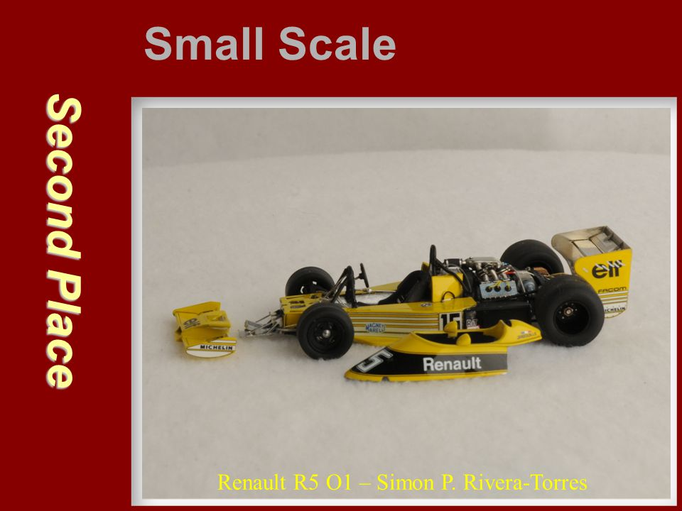 Small Scale Second Place Renault R5 O1 – Simon P. Rivera-Torres