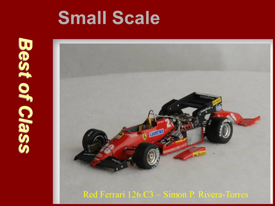 Small Scale Best of Class Red Ferrari 126 C3 – Simon P. Rivera-Torres