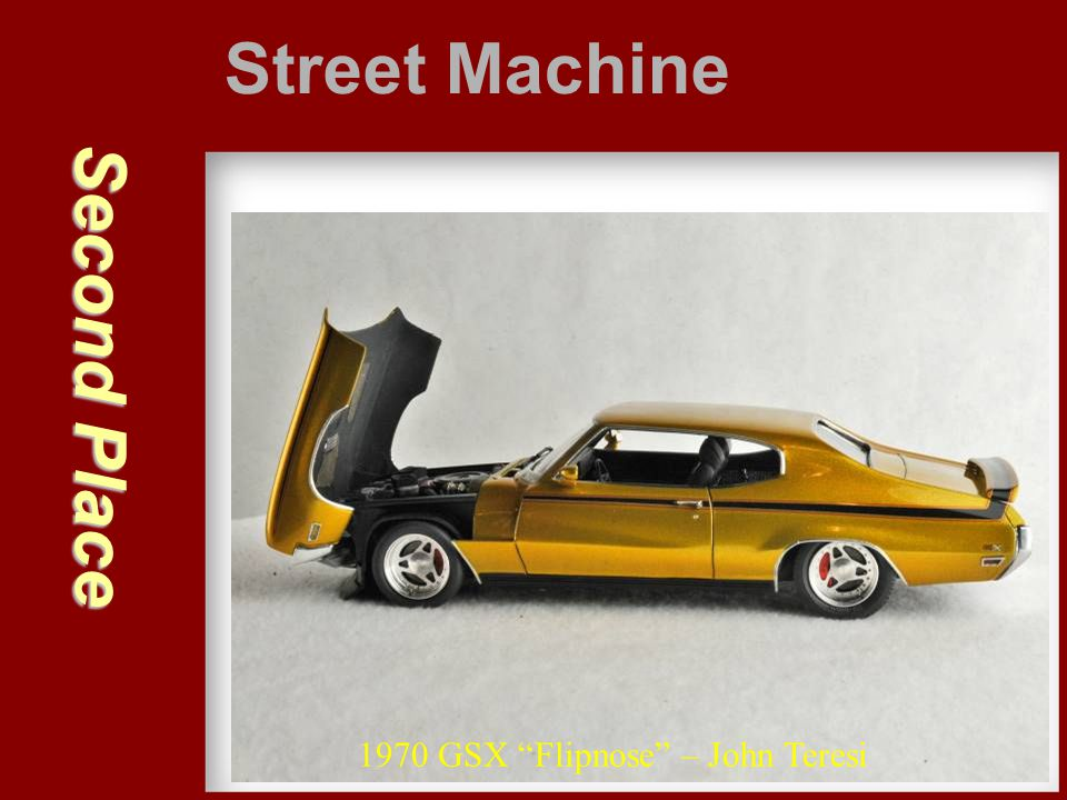 Street Machine Second Place 1970 GSX Flipnose – John Teresi