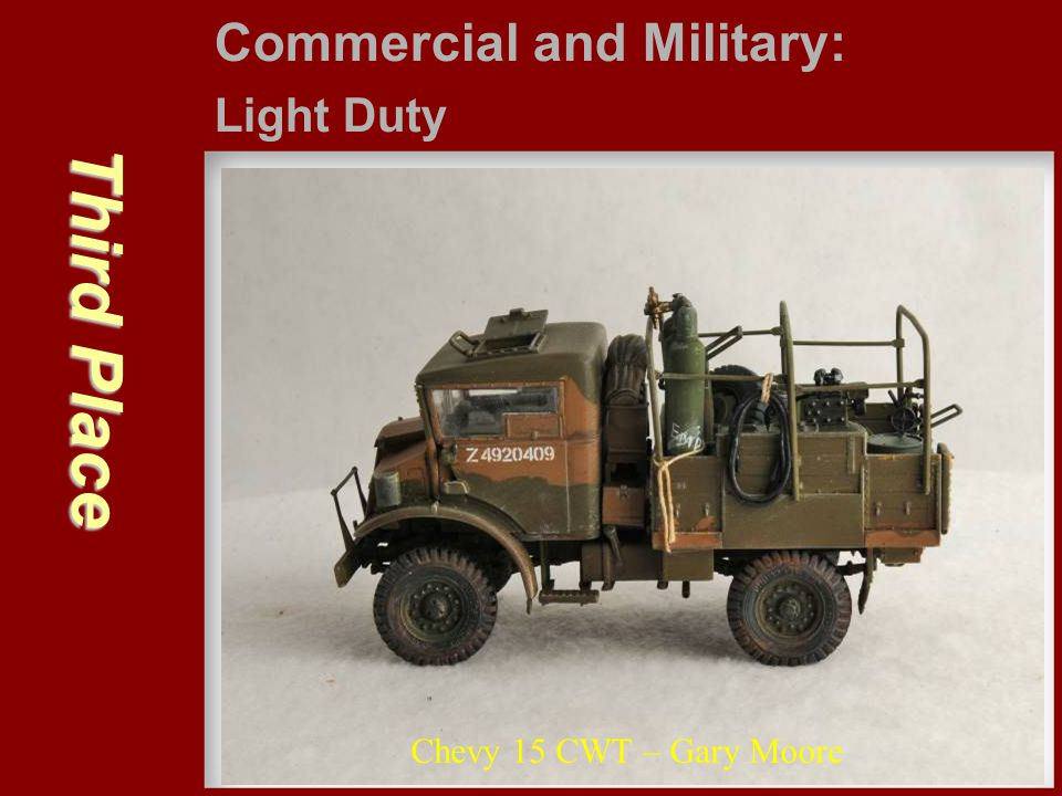 Third Place Commercial and Military: Light Duty