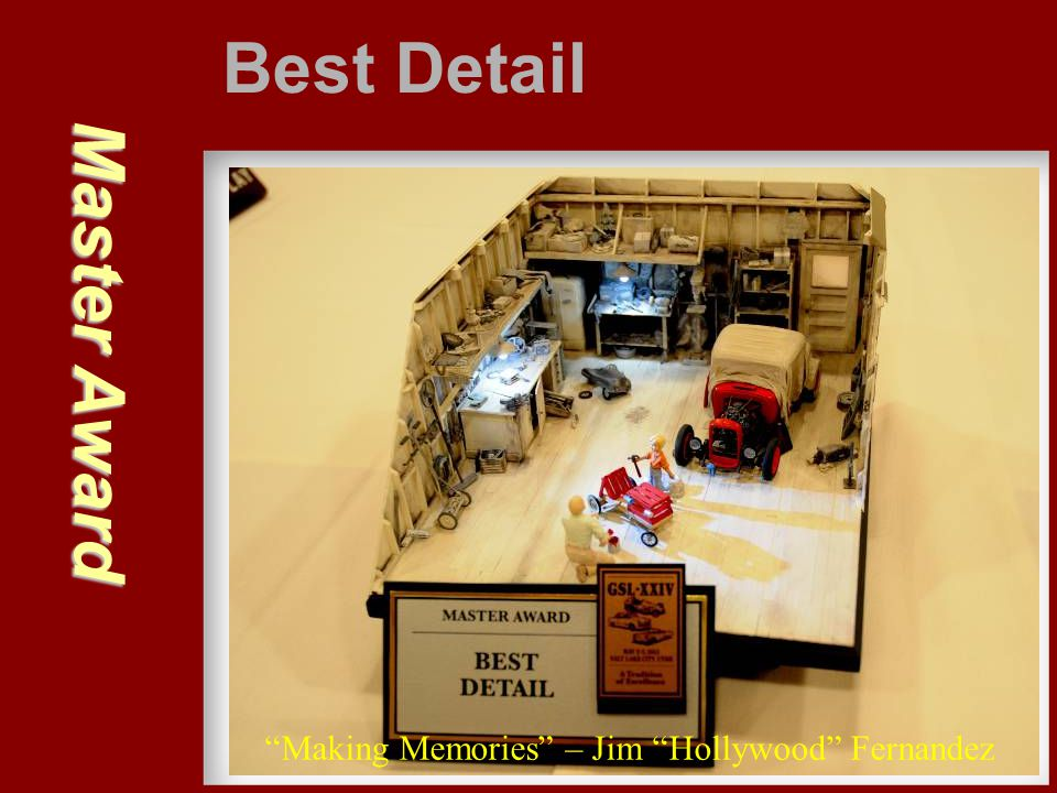 Best Detail Master Award Making Memories – Jim Hollywood Fernandez