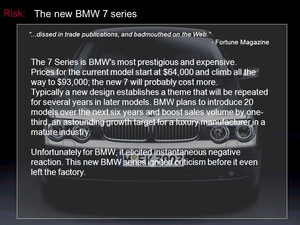 Risk: The new BMW 7 series