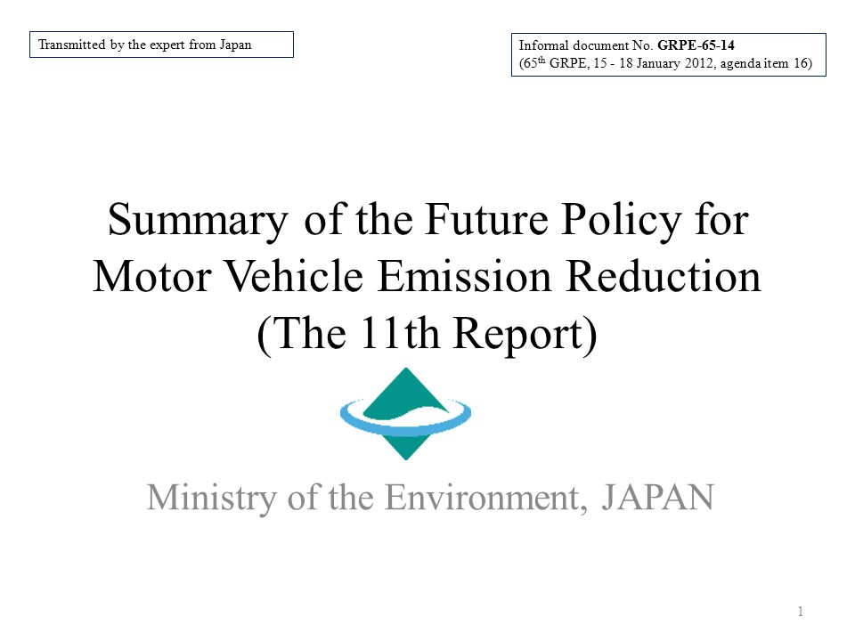 Ministry of the Environment, JAPAN