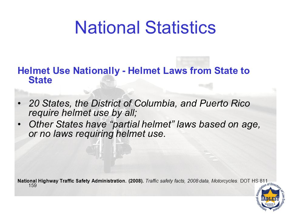 3 states without helmet laws – Iowa, Illinois and New Hampshire