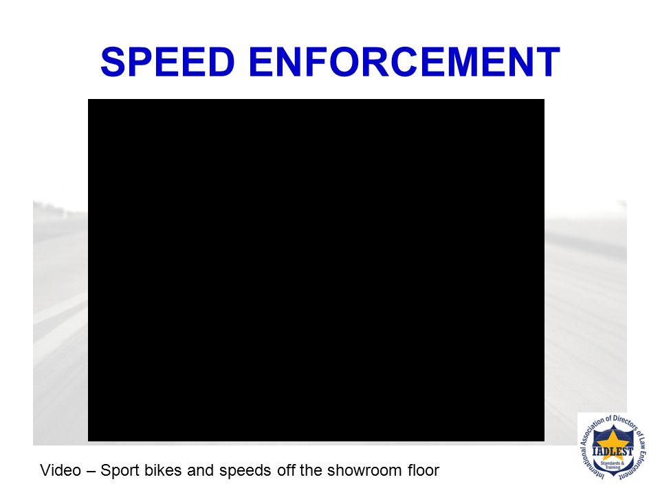 SPEED ENFORCEMENT Video – Sport bike and speed – sport bike reaches 171 mph on secondary roads.