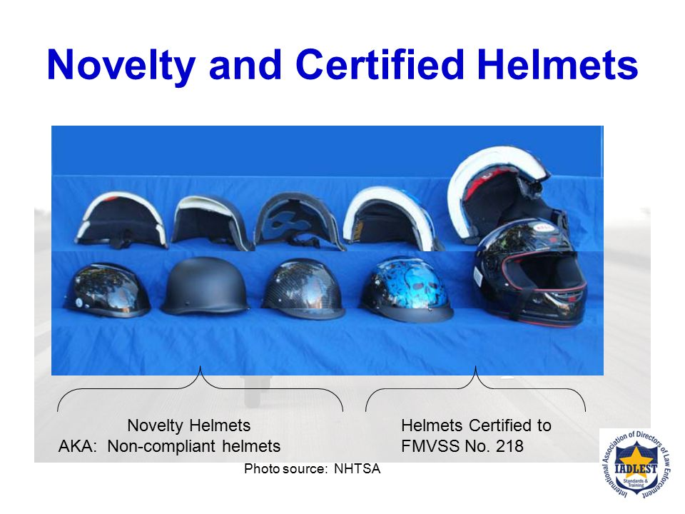 Novelty and Certified Helmets