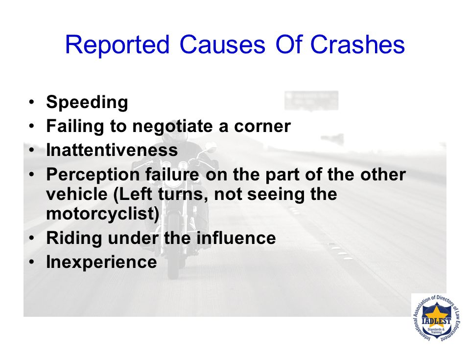 Reported Causes Of Crashes