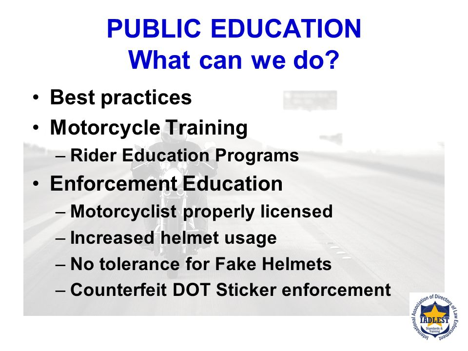 PUBLIC EDUCATION What can we do