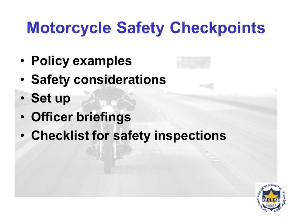Motorcycle Safety Checkpoints
