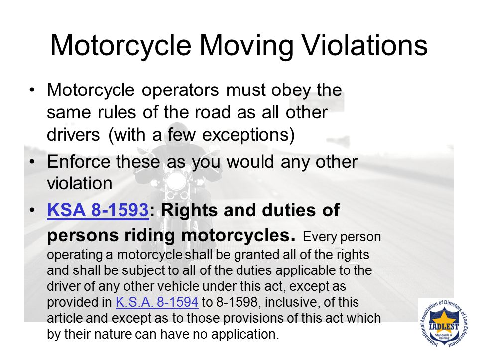 Motorcycle Moving Violations