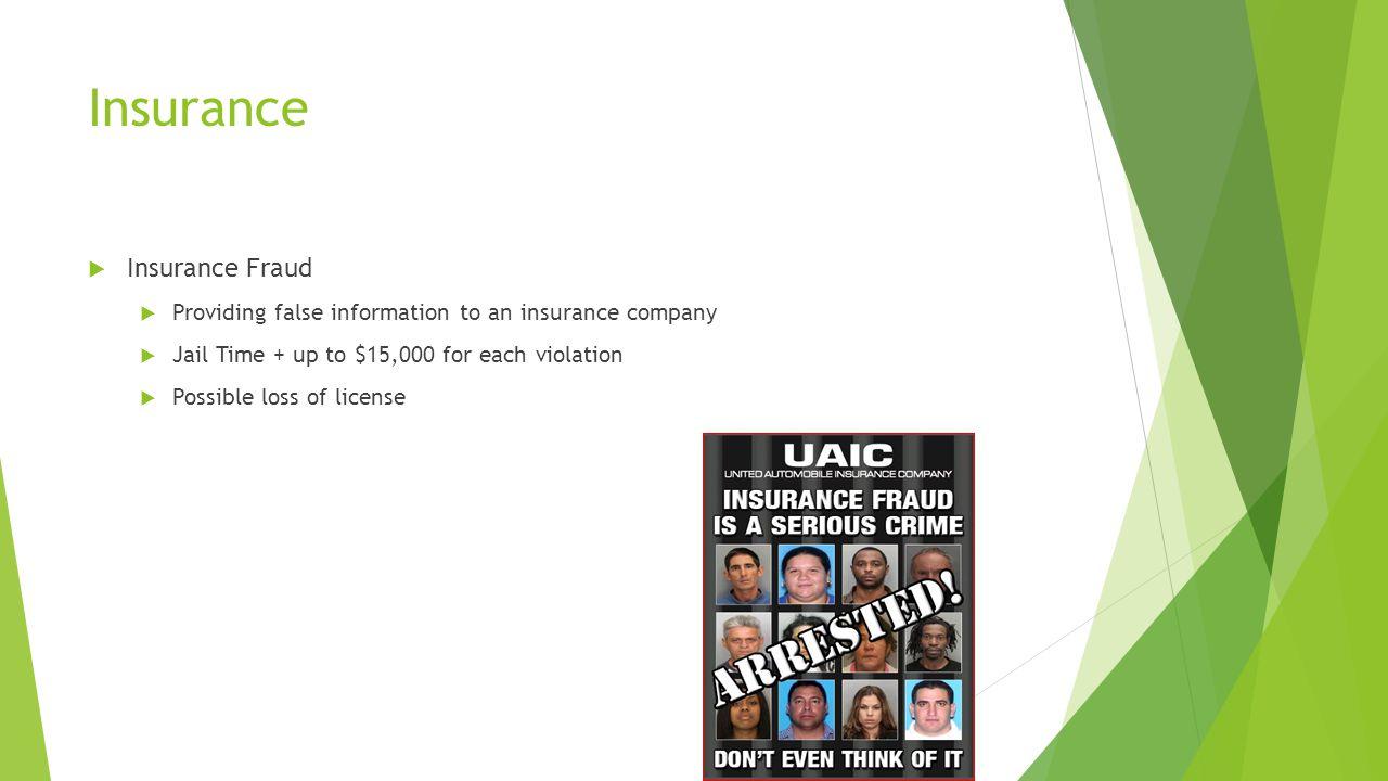 Insurance Insurance Fraud