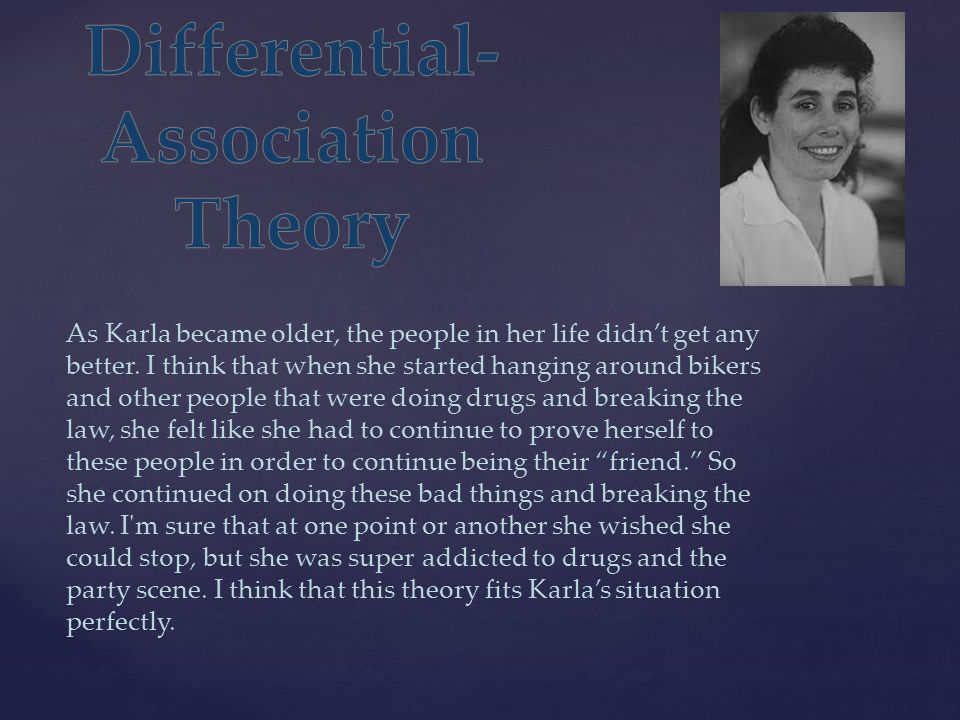 Differential-Association Theory
