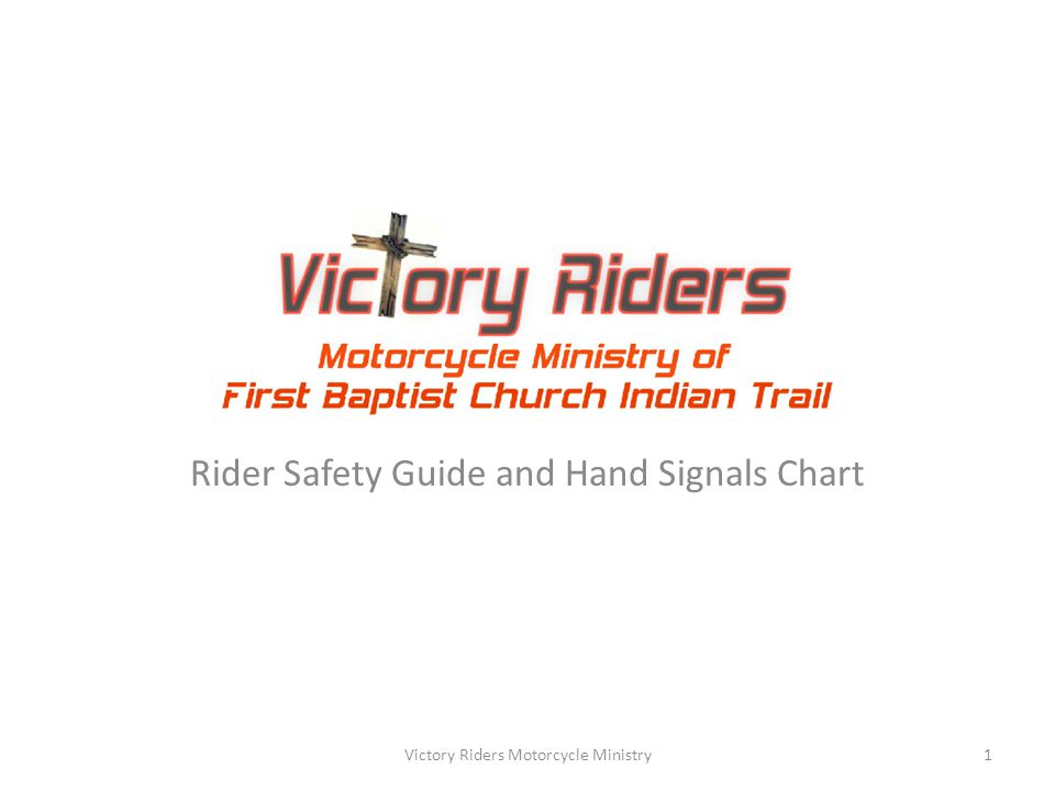 Rider Safety Guide and Hand Signals Chart