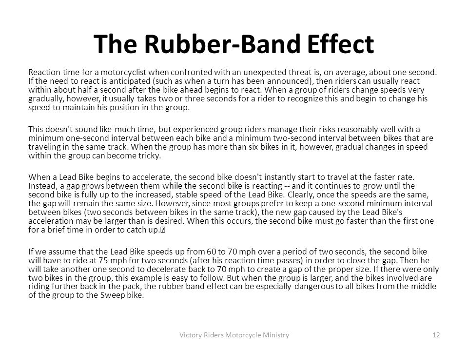 The Rubber-Band Effect