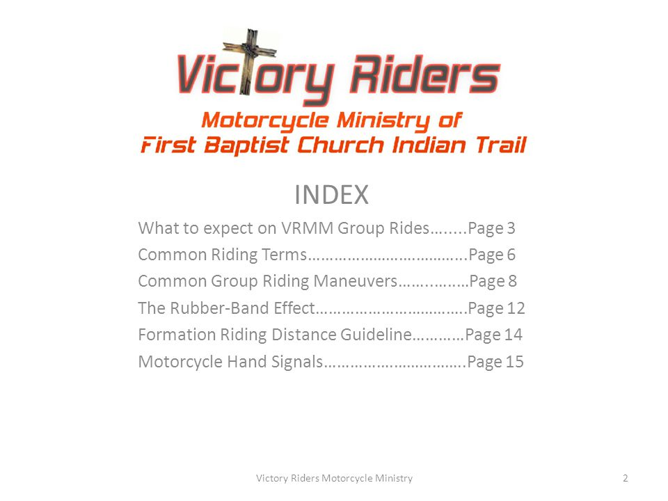 Victory Riders Motorcycle Ministry