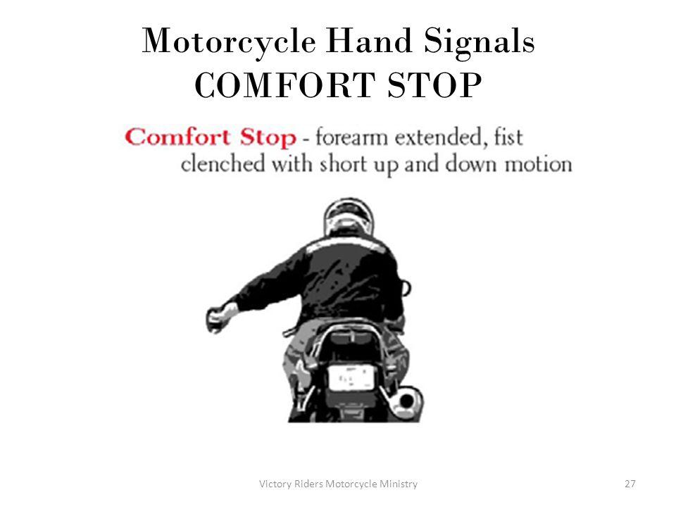 Motorcycle Hand Signals COMFORT STOP