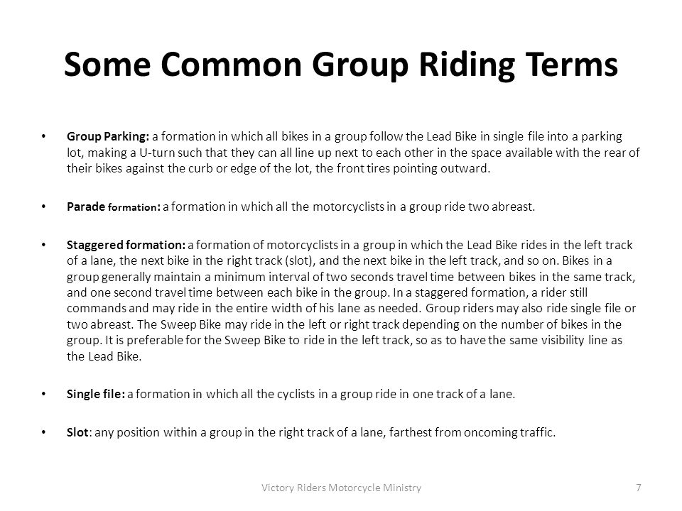 Some Common Group Riding Terms