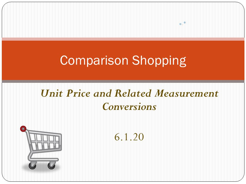 Unit Price and Related Measurement Conversions 6.1.20