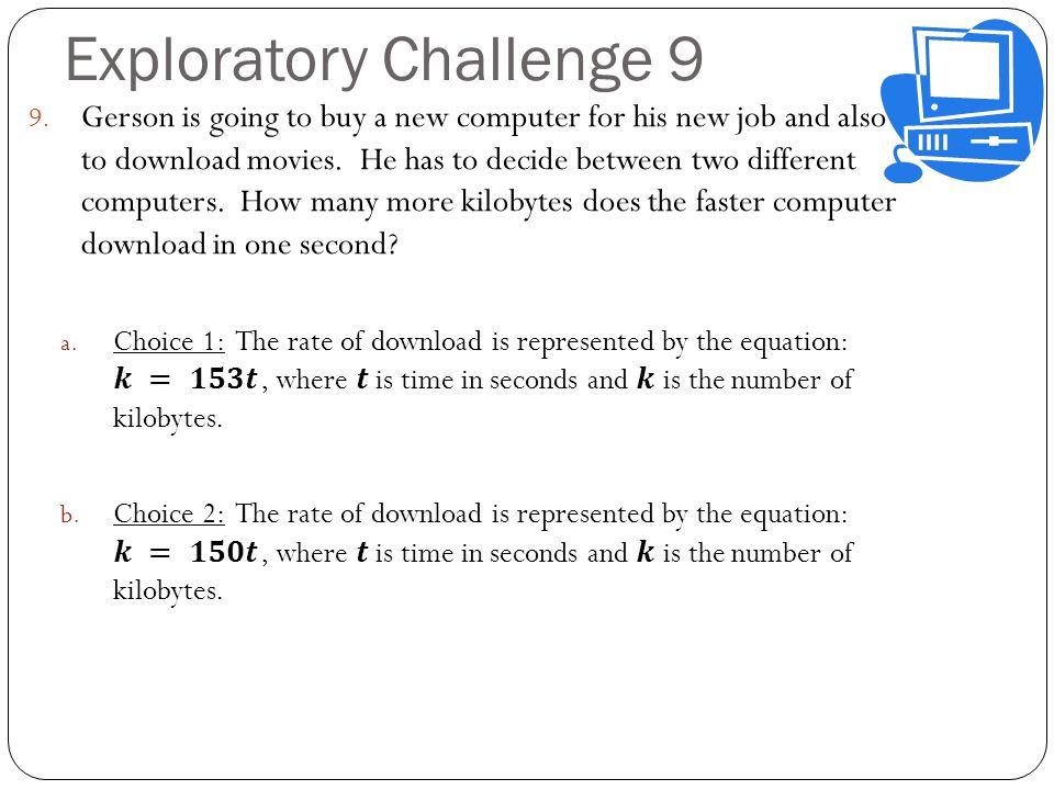 Exploratory Challenge 9