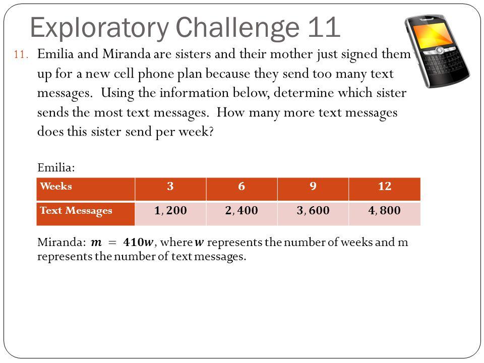 Exploratory Challenge 11