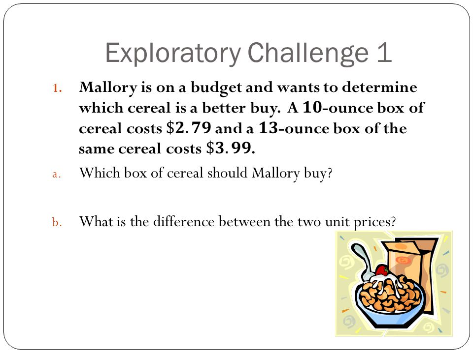 Exploratory Challenge 1