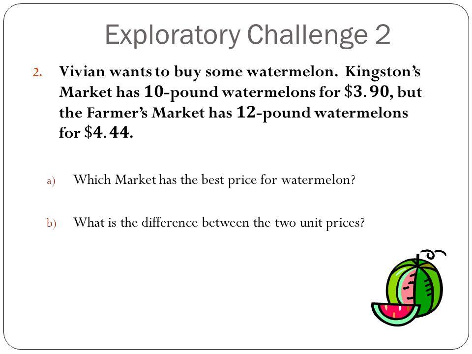 Exploratory Challenge 2