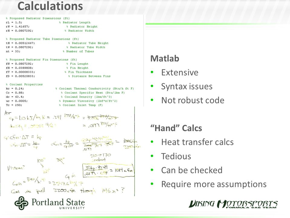 Calculations Matlab Extensive Syntax issues Not robust code