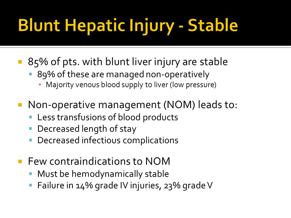 Blunt Hepatic Injury - Stable