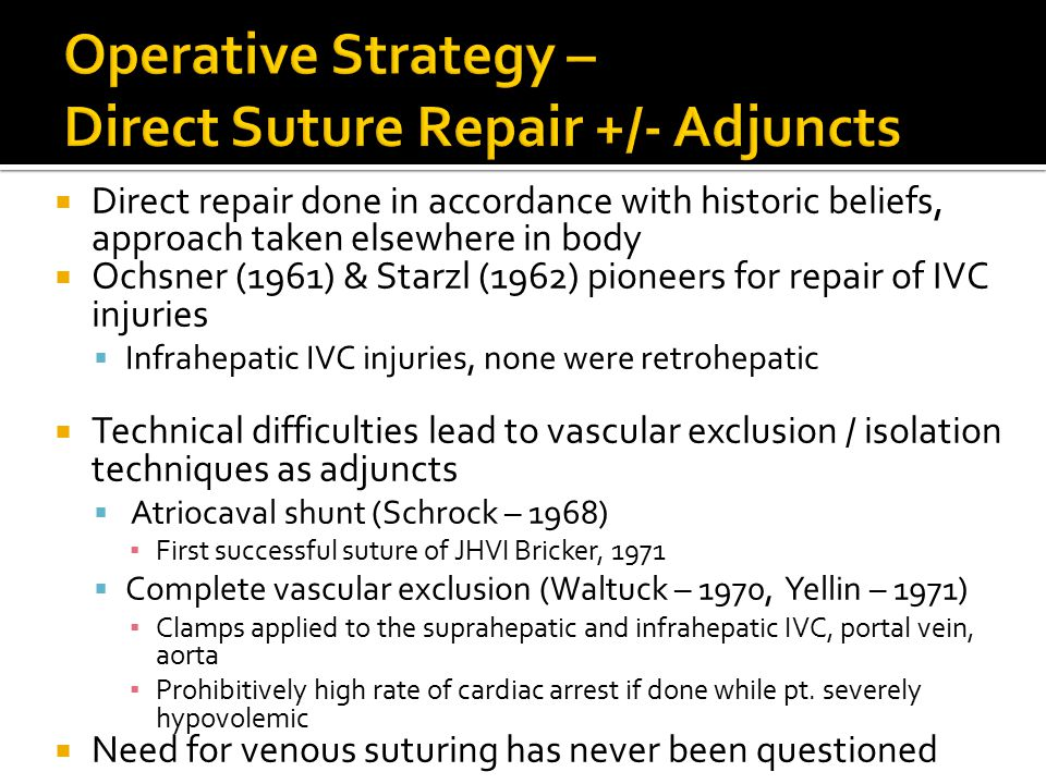 Operative Strategy – Direct Suture Repair +/- Adjuncts