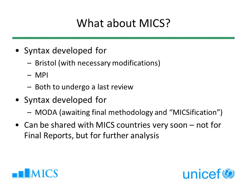 What about MICS Syntax developed for