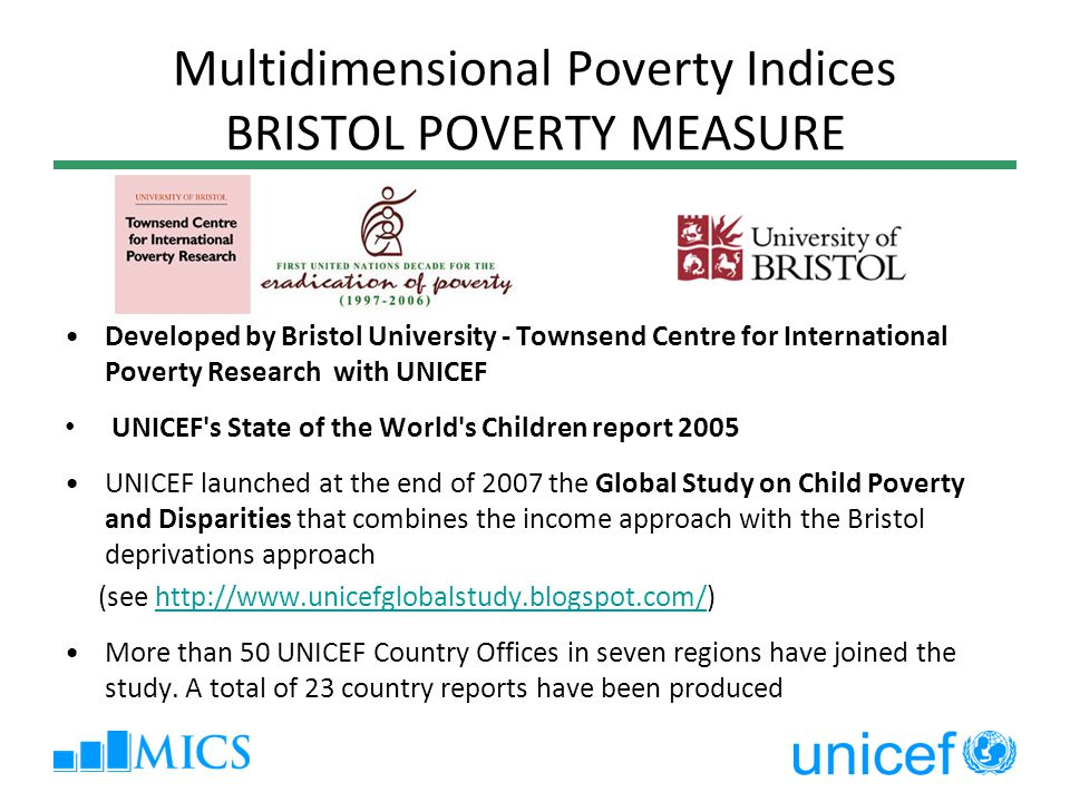 Multidimensional Poverty Indices BRISTOL POVERTY MEASURE