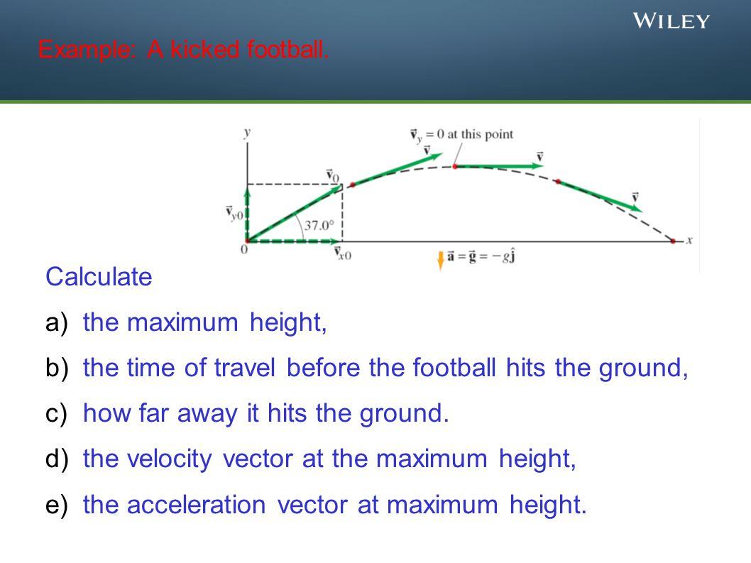 Example: A kicked football.