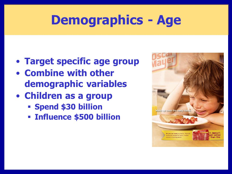 Demographics - Age Target specific age group